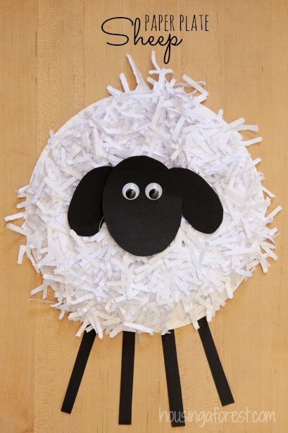 Paper Plate Sheep Craft as Cute Easter Decor
