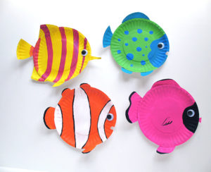 Colorful Paper Plate Tropical Fish