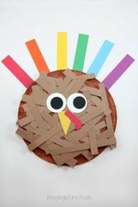 Cute Paper Plate Turkey Face