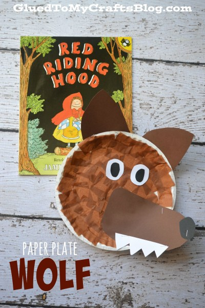 Super Simple Paper Plate Wolf Face