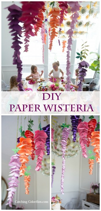 Fantastic DIY Paper Craft: Colorful Paper Flower Wisteria