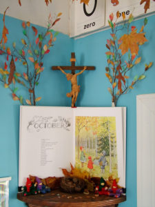 DIY Autumn Tree with Colorful Coffee Filter Leaves