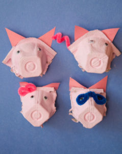 Easy Egg Carton Pig Nose with Pipe Cleaner Touch