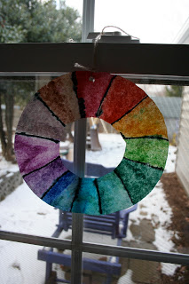 Coffee Filter Wheel for Window Display