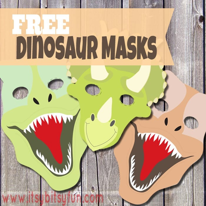 DIY Printable Dinosaur Mask Template in Different Shapes