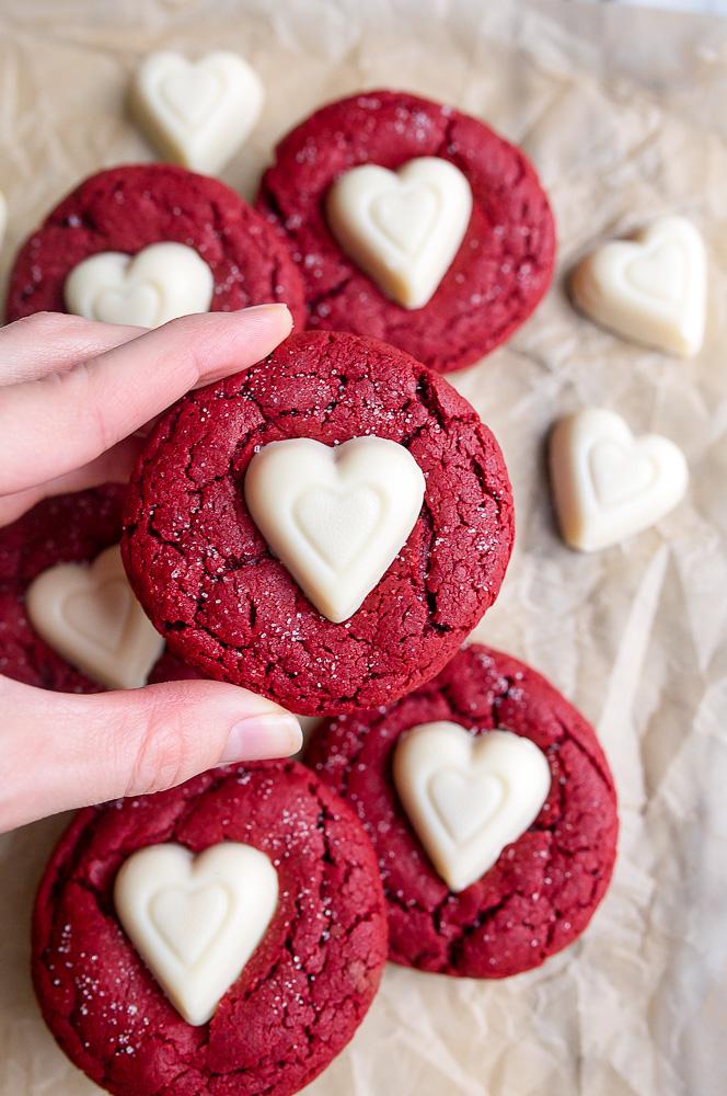 Editors Choice Valentines Day Red Velvet Sugar Cookies