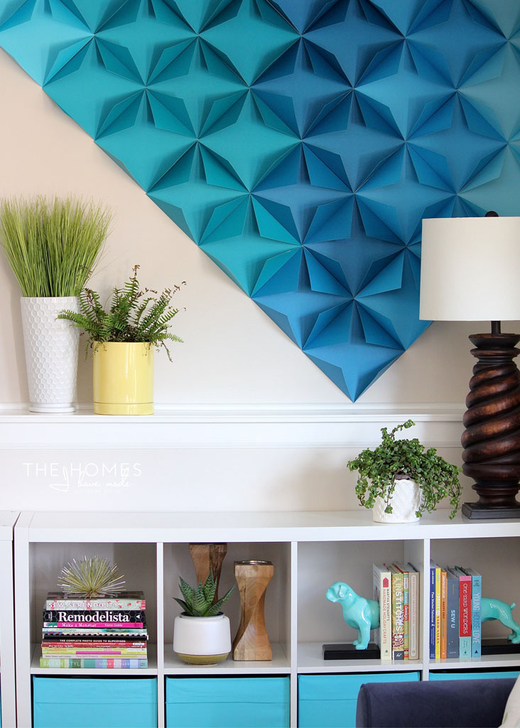 Renter-Friendly 3D Paper Giant Wall Art Home Decor