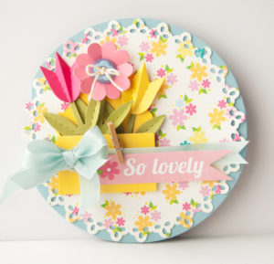 DIY Paper Blossom Card with Ribbon Work