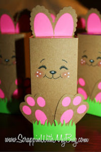 Easter Party Decor with DIY Cardboard Bunny Craft