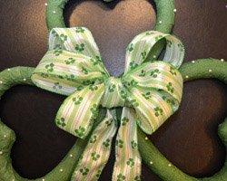 Irish Heritage Celebration with Unusual DIY Shamrock Wreath