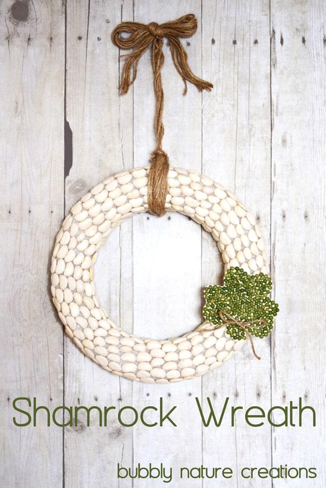 DIY Bubbly Shamrock Wreath