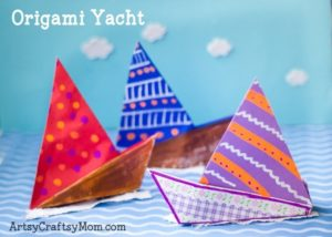 Origami Yacht Craft Rich in Color: Back-to-School Kids Project