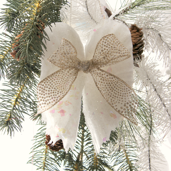 Sparkling Angel Wings- Festive Ornaments Made Out of Coffee Filters