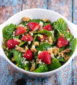 Spinach Strawberry Champagne Salad – valentines day dinner ideas