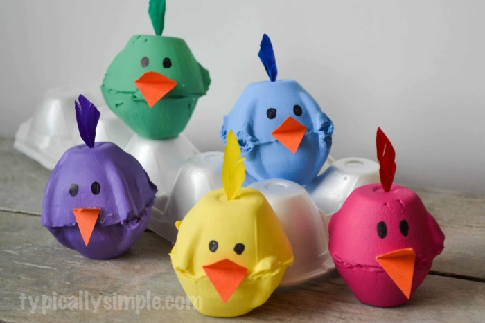 DIY Spring Craft: Colorful Easter Eggs from Egg Cartons