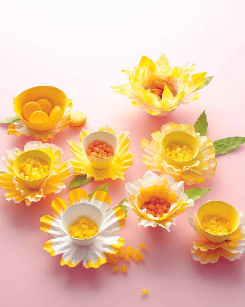 Coffee Filter Spring Flower Treat Bowl Decor