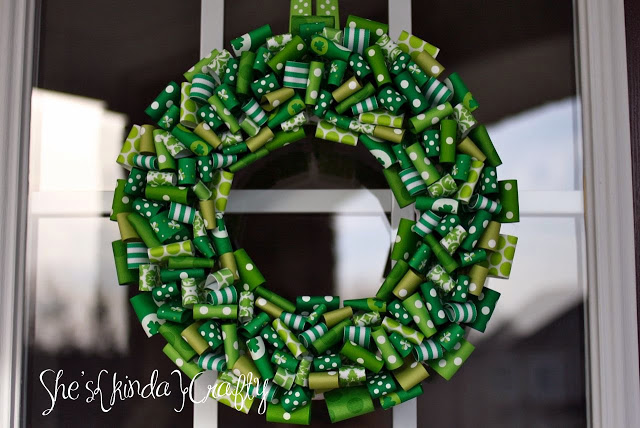 St.Patrick's Day Ribbon Creation as DIY Wreath