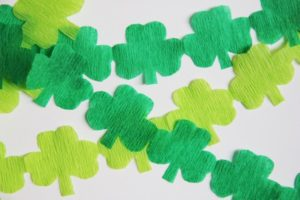DIY Shamrock Streamers Party Decor Garland