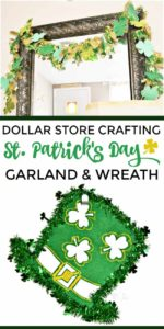 DIY Shamrock Garland: Dollar Store Crafting