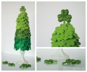 Beautiful DIY Shamrock Tree