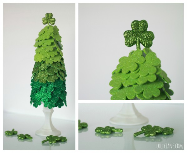 Beautiful DIY Shamrock Tree