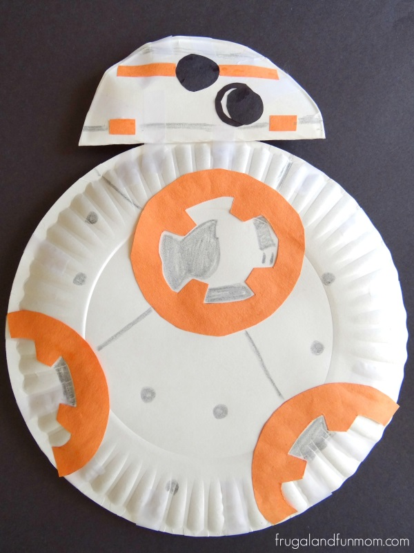 BB-8 Droid Paper Plate Robot