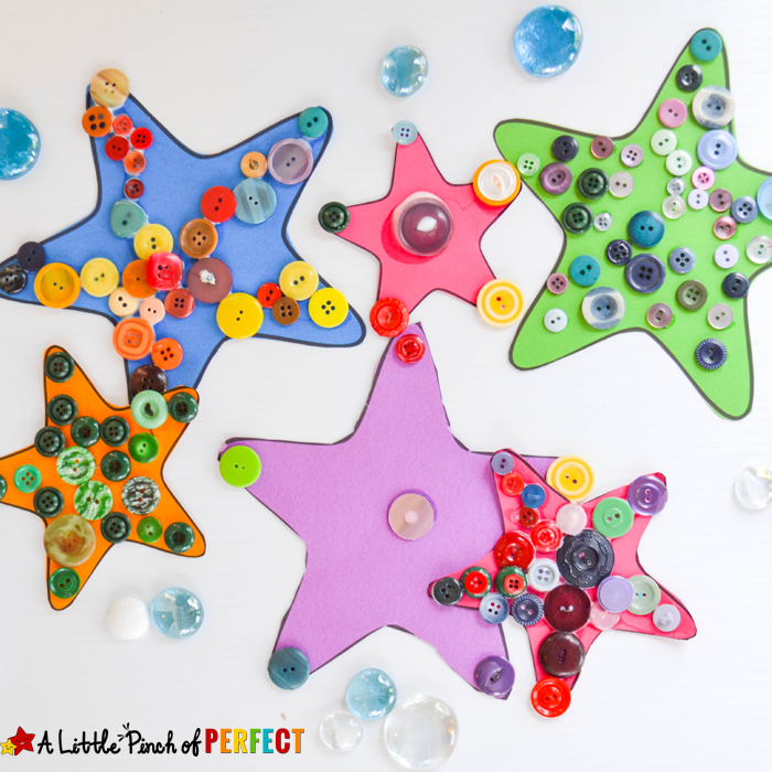 Easy-to-Craft Button Project: Starfish Ocean Craft for Kids