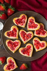 Valentines Day Heart Strawberry Cream Cheese Breakfast Pastries