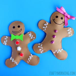Sweet Gingerbread Boy & Girl Cardboard Paper Craft