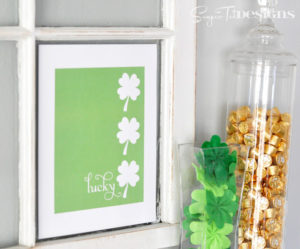 St. Patrick's Day Craft Lucky Shamrock Decor