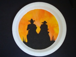 Sunset Cowboys Wall Art from Coffee Filters