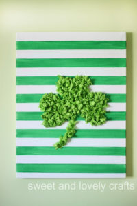 Lovey Shamrock Art from Crumbled Tissue Paper