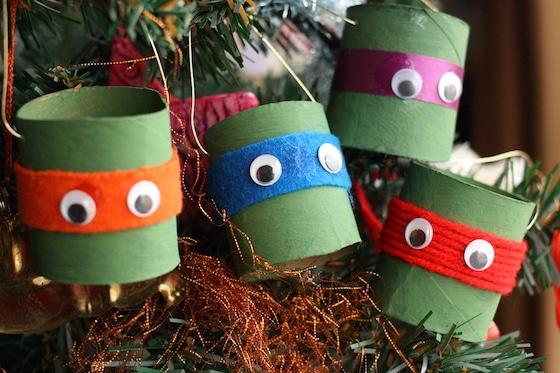Ninja Turtle Christmas Tree.Teenage Mutant Ninja Turtle Paper Craft Christmas Ornament