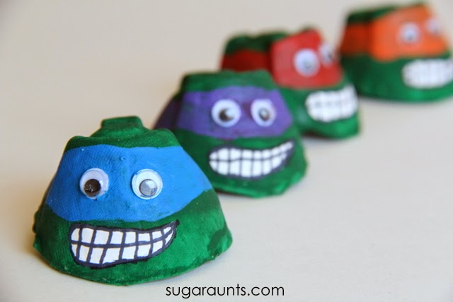 Egg Carton Mutant Ninja Turtle: A Cute Toddler Project