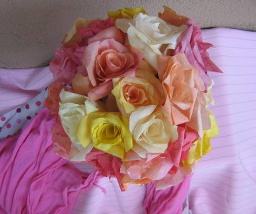 DIY Bouquet of Colorful Coffee Filter Roses