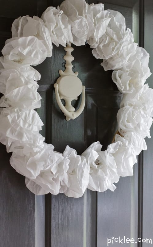 Lavish Coffee Filter DIY- White Hydrangea Wreath
