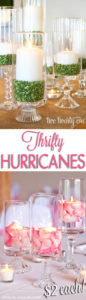 DIY Hurricane Centerpiece with Floating Candles