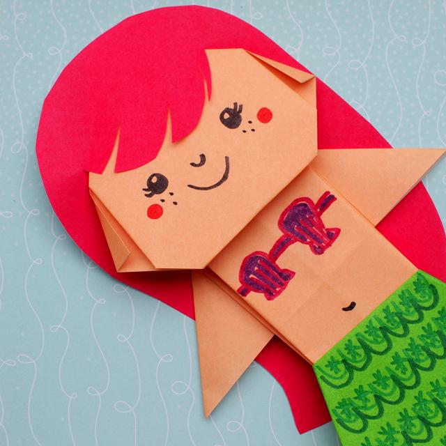 Cute Little Mermaid Ariel: An Easy Origami Paper Craft