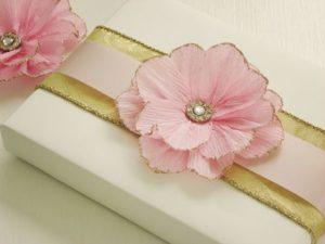 Glittery Pink Flower Gift Decor