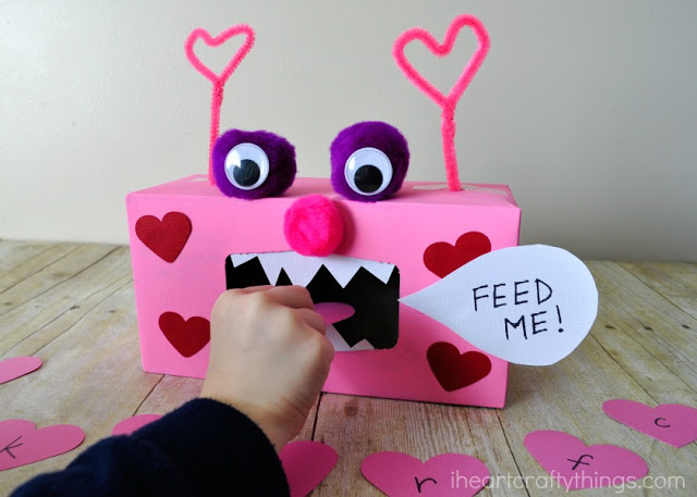 Valentine Monster Alphabet and Sight Word Game – Valentines Day Box Ideas