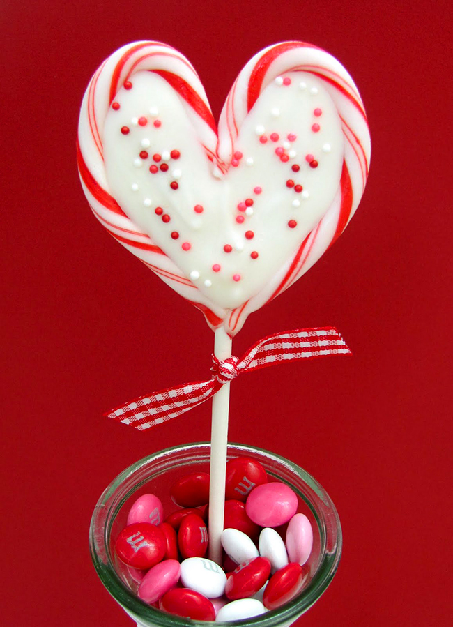 Valentine's Day heart peppermint candy pops   Chickabug