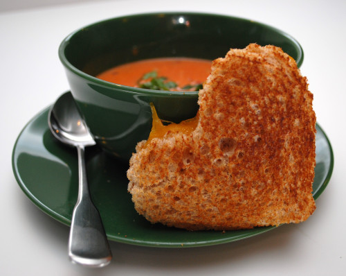 Valentine's Day Breakfast Soup & Sandwich