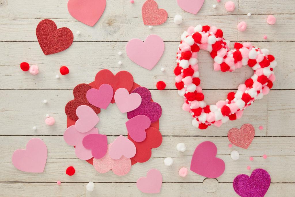 Valentines Day Heart Wreath – Kids Craft Ideas