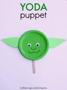 Paper Plate Yoda Puppet