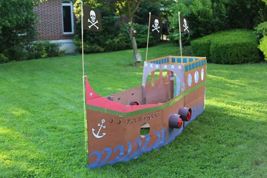 A Pirate Ship: Perfect Craft For A Themed Birthday Party
