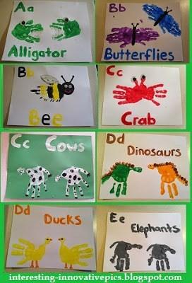 Hand-print Alphabet Art for Kids as Skillful Preschool Activity