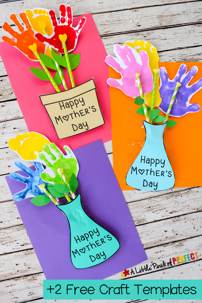 Free Printable Hand Print Flower Templates For Mother S Day Truly