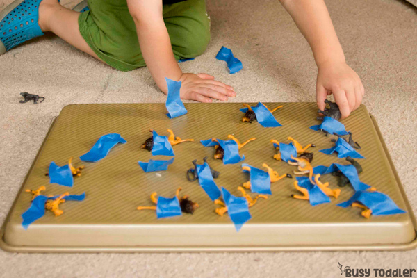 Animal Tape Rescue Game: Wonderful Preschool Activity for Curious Kids