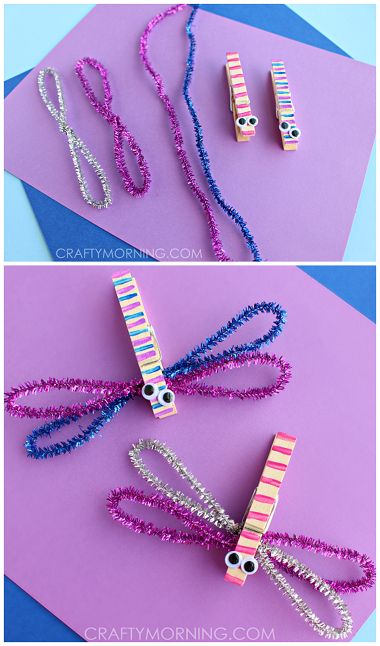 DIY Clothespin Dragon Fly Craft with Cute Googly Eyes