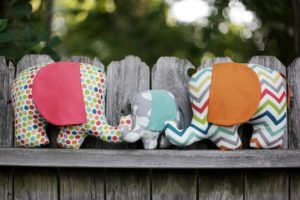 Free Pattern Stuff Toys Tutorial: Henry & Helga with Baby Elephant